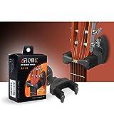 AROMA AH-85 Gitarrenwandhalter mit Automatischen Greifarmen für Gitarre Bass Mandoline (Kunststoff Schwarz)