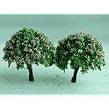 dasuke miniatura hada del jardín adorno flor maceta maceta decoración del hogar 2piezas Juego de árbol