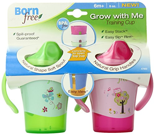 Preisvergleich Produktbild BPA-Free Grow with Me 6 oz. Training Cup, 2 Count, Girl