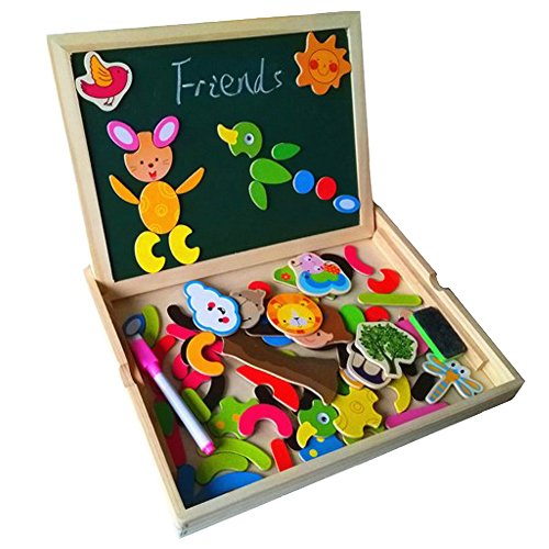fajiabao-magnetic-cute-animal-jigsaw-puzzle-wood-drawing-writing-double-side-doodle-and-scribble-boa