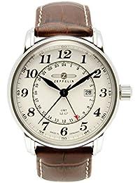 Zeppelin Herren-Armbanduhr XL LZ127 Graf Analog Quarz Leder 76425