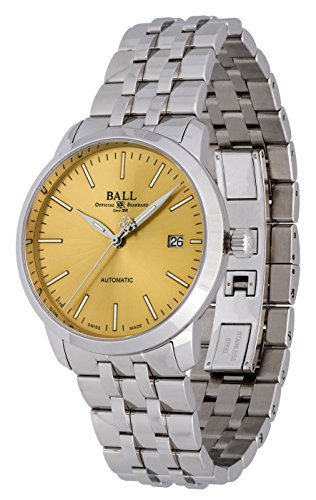 Ball Legend Automatic Stainless Steel Mens Watch Gold Dial Calendar...