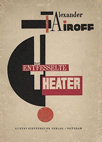 Poster, Vintage-Stil, Konstruktivismus-Motiv, Plakat fürDas entfesselte Theater von Alexander...