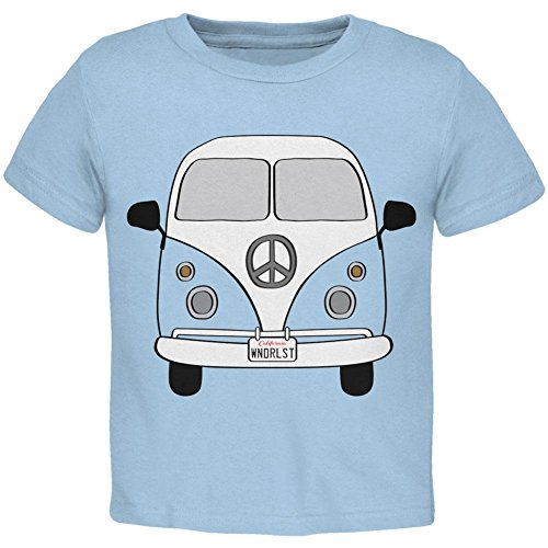 Halloween Travel Bus Kostüm Camper Fernweh Kleinkind T Shirt Hell Blau Kleinkind Grösse 5/6 (Kleinkind Jungen T-shirt Graphic)