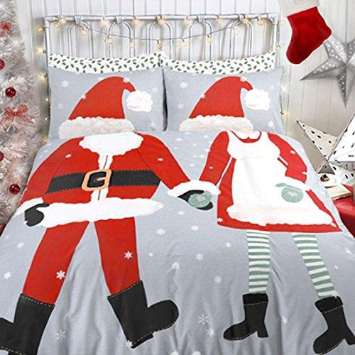 Mikrofaser-cami-set (neuen Kleid bis Weihnachten Jungen & Mädchen Bettbezug Set Print mit Kissen Fall Betten Quilt Cove, 50 % Baumwolle / 50 % Polyester, DRESS UP CHRISTMAS BOYS&GIRLS, Doppelbett)