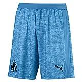 Puma Olympique de Marseille Short Original Without Inner Slip Pantalon De Jogging Homme, Bleu Azur White, XL