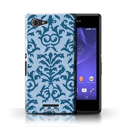 Kobalt® Imprimé Etui / Coque pour Sony Xperia E3 / Pourpre conception / Série Motif de défilement Bleu