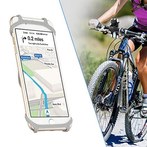 Abnehmbare Handy-halter (WooyMoo Universal Bike Phone Mount, Fahrrad Handyhalter abnehmbare Silikon Handy Motorrad Halter for iPhone 8 7 6 s Plus 5 SE Samsung Galaxy S8 S7 Hinweis, 4 bis 6,3 Zoll Smartphone)