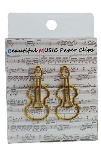 Büroklammern Geige gold - Schönes Geschenk für Musiker