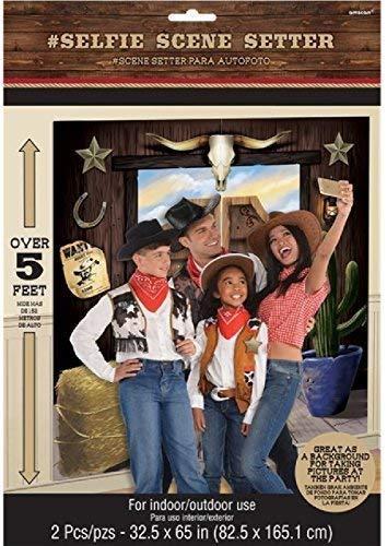 der Westen Scene Setter Party-Dekoration Hintergrund Selfie Bahnhof Cowboys und Indianer über 5ft Indoor & Outdoor ()