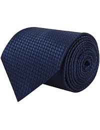 BARATA Men's Microfiber Formal Tie Blue_Free Size