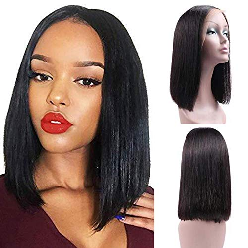 Lace Wigs Human Hair Lace Wigs Allrun Ocean Wave Side Part Lace Front Human Hair Wigs Bob Wig Women Natural Ear To Ear Brazilian Remy Human Hair Lace Front Wig