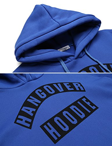 Hoodie Damen, Pagacat Lässig Langarm Herbst Winter Hangover Hoodie Kapuzenpullover Kapuzen-Sweatshirt mit Tasche Blau