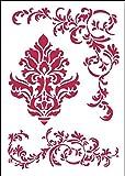 Stamperia Schablone Barock Din A4 Motiv Muster Bodüre Mal-Schablone
