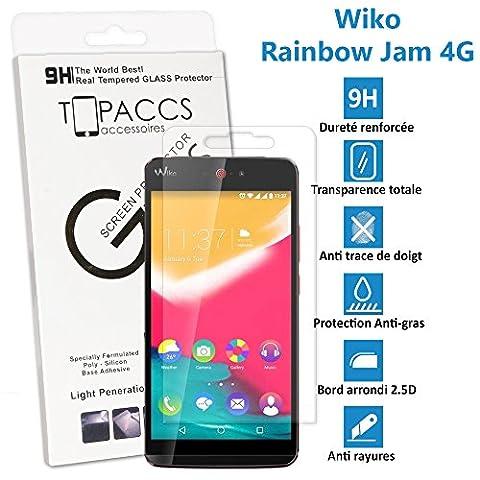 Wiko Rainbow JAM 4G - Véritable vitre de protection écran en Verre trempé ultra résistante - Protection écranv