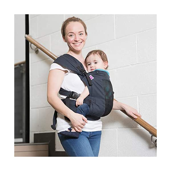 Izmi Toddler Breeze Carrier, Featuring Breathable Mesh Panel, Ideal for Babies 9 Months Plus, Midnight Blue Izmi Ideal for carrying babies 9 months plus Features a mesh panel for extra ventilation and breath-ability Padded waistband for extra support 3