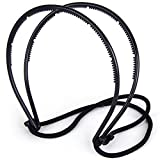 #4: PERFECT SHOPO Double hair bands hair maker belt magicad hairstyle pin elastic band elegant style/Elastic Headband DIY Hair Styling Tool Hait Holder/Dual Grip Elastic Twisted Hairstyles Headband Double Hair Clip Hair Styling Tool Hair Band for Short Long Hair Women Hair Accessories Black