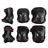 EONPOW Kit protezione per ginocchia gomiti polsi pattini in linea ginocchiere...