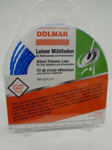 DOLMAR TRIMMERFADEN / LEISEFADEN Ø2 4MM LäNGE 15 M