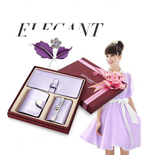 Eysee, Borsetta da polso donna Oro nero 18,5cm*9cm lavendel lila