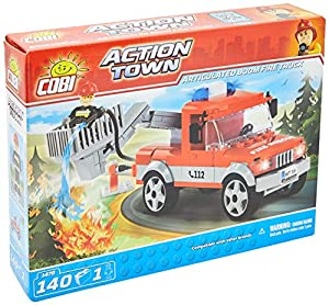 COBI- Action Town-Boom Fire Truck (140 Pcs) Juguete, Multicolor (COB01479)