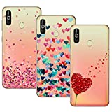 Young & Ming Cover Galaxy A60, (3 Pack) Morbido Trasparente Silicone Custodie Protettivo TPU Gel Case, Amore