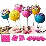 Molde silicona 12 cavidades lollipop multifuncional azul helados,...