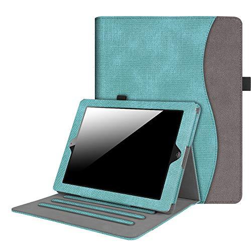 Fintie Hülle für iPad 2 / iPad 3 / iPad 4 - [Eckenschutz] Multi-Winkel Betrachtung Folio Stand Schutzhülle Cover Case mit Dokumentschlitze, Auto Wake/Sleep, Jeansoptik Türkis