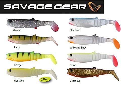 Savage Gear Set - 8 Cannibal Shads Gummifische 10cm, Gummifisch zum Raubfischangeln, Kunstköder zum Zanderangeln, Barschköder