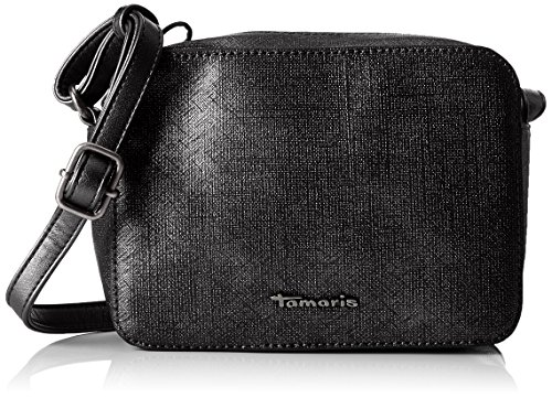 Tamaris Damen Alia Crossbody Bag Umhängetasche, Schwarz (Black Comb.), 5x14x20 cm (Boston Bag Elegante)