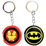 Blue Aura Combo Of 2 Batman & Iron Man Keychain For Bike,Car,collectible,gifting.