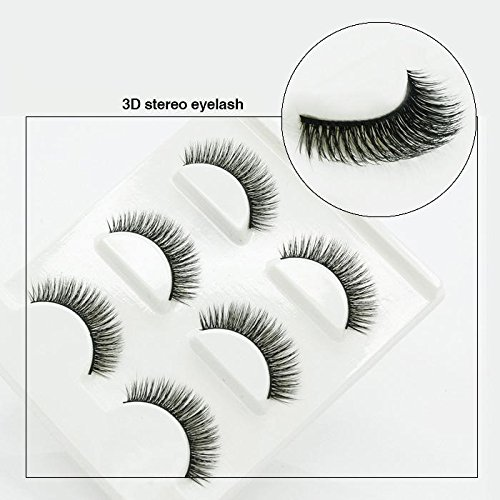 Naturel incroyable 3D stéréo multicouche faux cils pur artisanal cils (3 paires) 3D-34