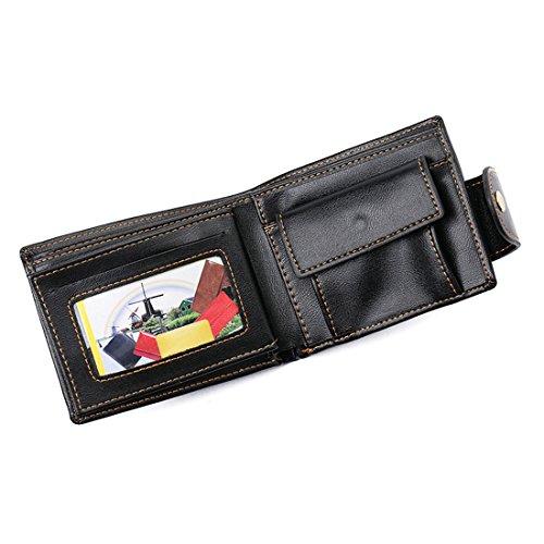 Geldbörsen Herren   PU-Leder Geldbörse   Wallet   Portemonnaie   Brieftasche   Portmonee   Geldbeutel   Vintage Geldsack   Kartenhalter   Kartenetui   Geldklammer von GUBINTU (Schwarz) Schwarz