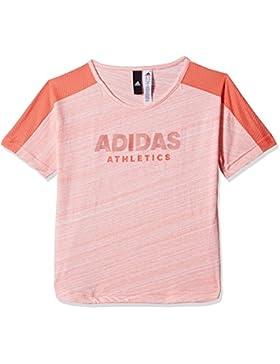 adidas Mädchen Yg Id Mix Tee Shirt