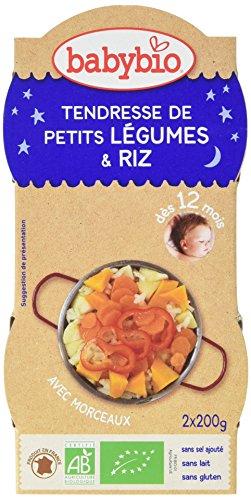 Babybio Bols Tendresse de Petits Légumes/Riz 2x200 g - Lot de 6