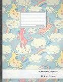 """Blanko Notizbuch • A4-Format, 100+ Seiten, Soft Cover, Register, """"Retro Einhörner"""" • Original #GoodMemos Blank Notebook • Perfekt als Zeichenbuch, Skizzenbuch, Blankobuch, Leeres Malbuch"""