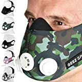 Geez Revolt Training Masque pour Hauteur Training - Augmentation de la physique Fitness Masque respiratoire Masque Masque, Silver on black (Silver on Black, M) (Green Camouflage, M)