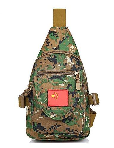 ZQ 2 L Umhängetasche Camping & Wandern Legere Sport Multifunktions Schwarz / Braun 1680D Polyester Other jungle camouflage