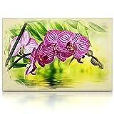 CanvasArts Orchideen - Leinwand Bild auf Keilrahmen Wandbild Pink Lila Rosa 07.3301 (60x40 cm, Einteilig)