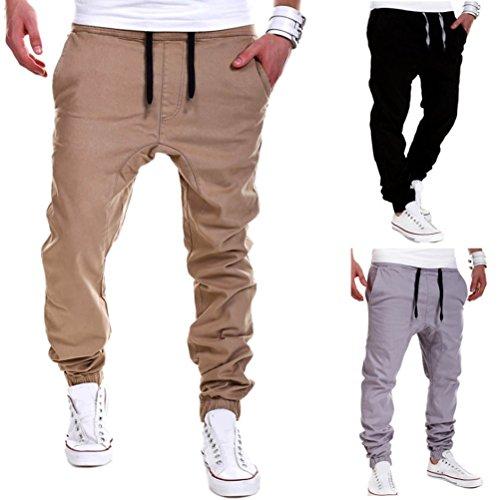 Zhuhaitf Uomo Casuali Pantaloni Confort Casual Baggy Trousers Pantaloni Tuta Pantaloni Con Lacci Con Coulisse Pantaloni Della Tuta Nero