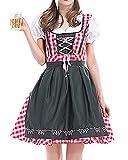 ZhuiKunA Disfraz de Bavara Mujer Vestido Cosplay de Oktoberfest de Criada Vestuario Carnaval S