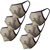 nestroots Cotton Face Mask Pack of 6 Army Print Washable Reusable Face Masks |Soft Earloop/Mouth Nose cover Face Masks…