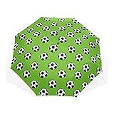 GUKENQ Regenschirm für Sport, Fußball, Grün, leicht, Anti-UV-Schutz, Sonnenschirm, für Herren, Frauen und Kinder, Winddicht, faltbar, kompakt
