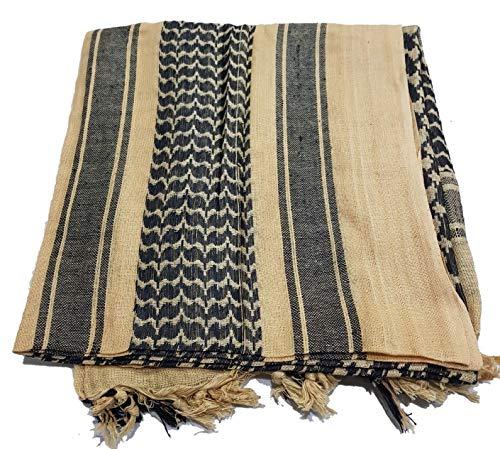 100% Cotton Shemagh Scarf Arab Keffiyeh Army Military Tactical Sniper Veil  Face Wrap SaS Headscarf fffa4f536d8