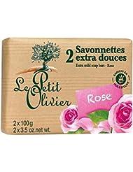 Le Petit Olivier Supplémentaire Savon Doux Rose 2 X 100G