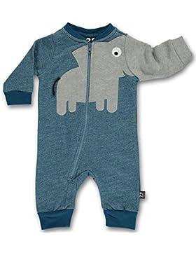 UBANG – Outdoor Overall Einteiler ELEFANT - Baby Jungen in blau
