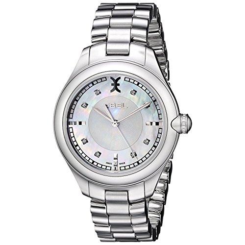 Ebel Onde Reloj de mujer cuarzo suizo 36mm correa y caja de acero cristal zafiro s. dial blanco 1216136
