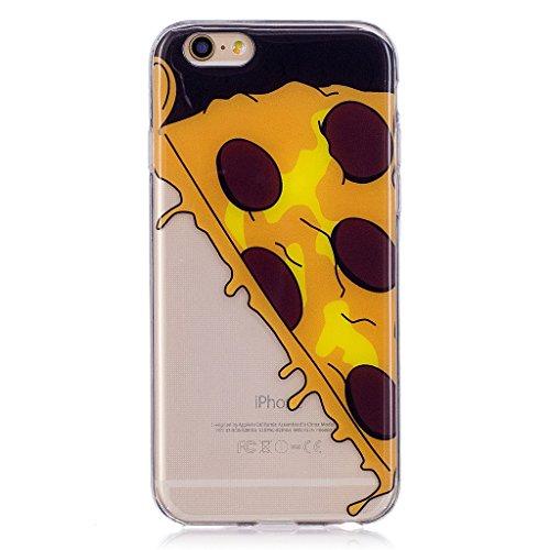 Cover iPhone 6 / iPhone 6S , YIGA pizza Cristallo Trasparente Silicone Morbido Case Molle TPU Shell Caso Protezione Custodia per Apple iPhone 6 / iPhone 6S (4.7) WL6