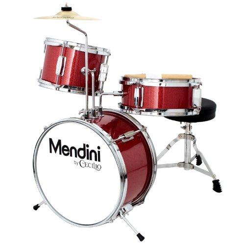 mendini-mjds-1-br-kinderschlagzeug-komplett-set-33-cm-13-zoll-metallisch-rot