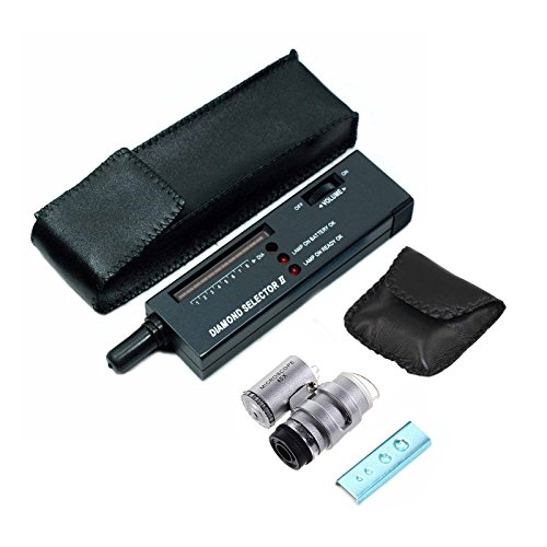 Hohe Genauigkeit Diamant Tester Professionelle Juwelier Tool Kit Diamant Selector II Tragbare Tester + 45X Beleuchtete LED Lupe